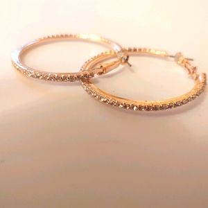Express rosegold hoop earrings , Brand New!